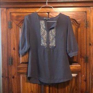 Brixon Ivy embroidered blouse